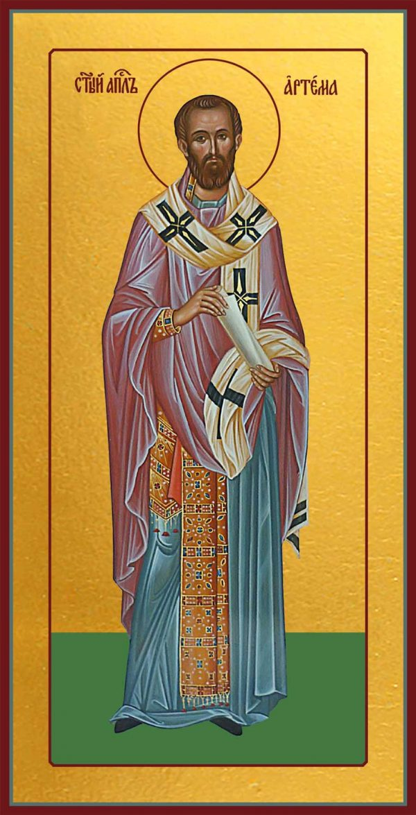 Икона Артема Листрийский, Епископ, апостол