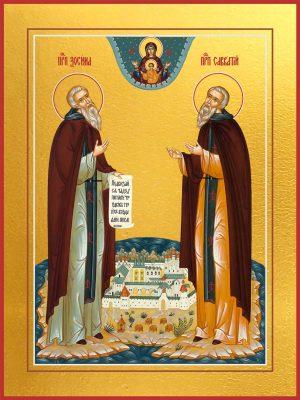 Икона Зосима и Савватий Соловецкие преподобные