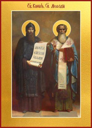 Икона Кирилл и Мефодий равноапостольные