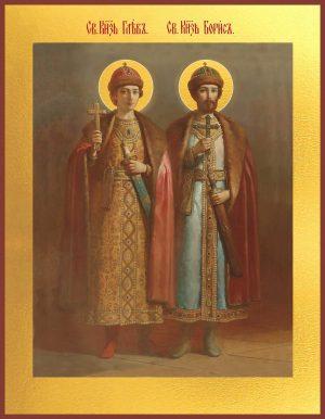 Икона Борис и Глеб благоверные князья