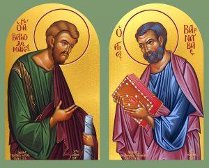 Икона Варфоломей И Варнава апостолы