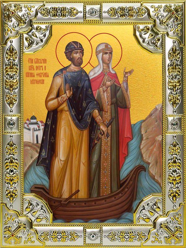 Икона Петра И Февронии Муромских