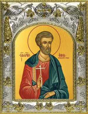 Икона Инна Новодунский мученик в окладе