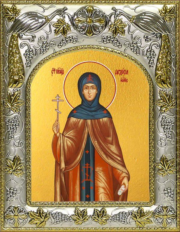 Икона Феодосия Константинопольская в окладе