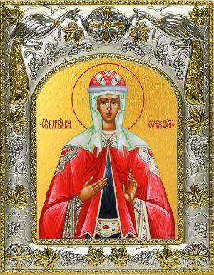Икона святой Софии Суздальской в окладе