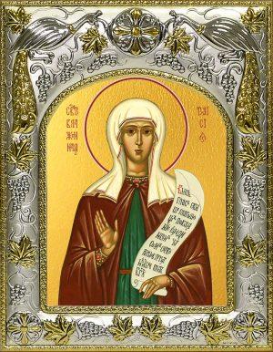 Икона святой Таисии блаженной в окладе