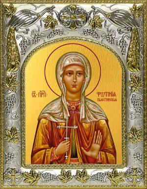 Икона святой Фотинии (Светланы) Палестинской преподобная в окладе