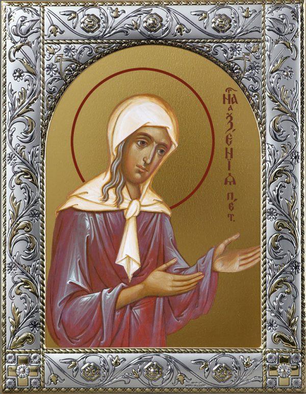 Икона Ксения Петербургская блаженная в окладе