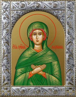 Икона святой Мариамны праведной в окладе