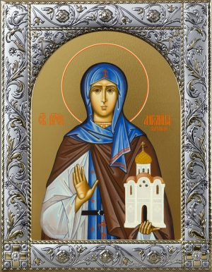 Купить икону святой Ангелины в окладе