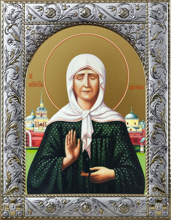 Икона Матроны Московской в окладе