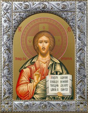Купить икону Спасителя Иисуса Христа в окладе