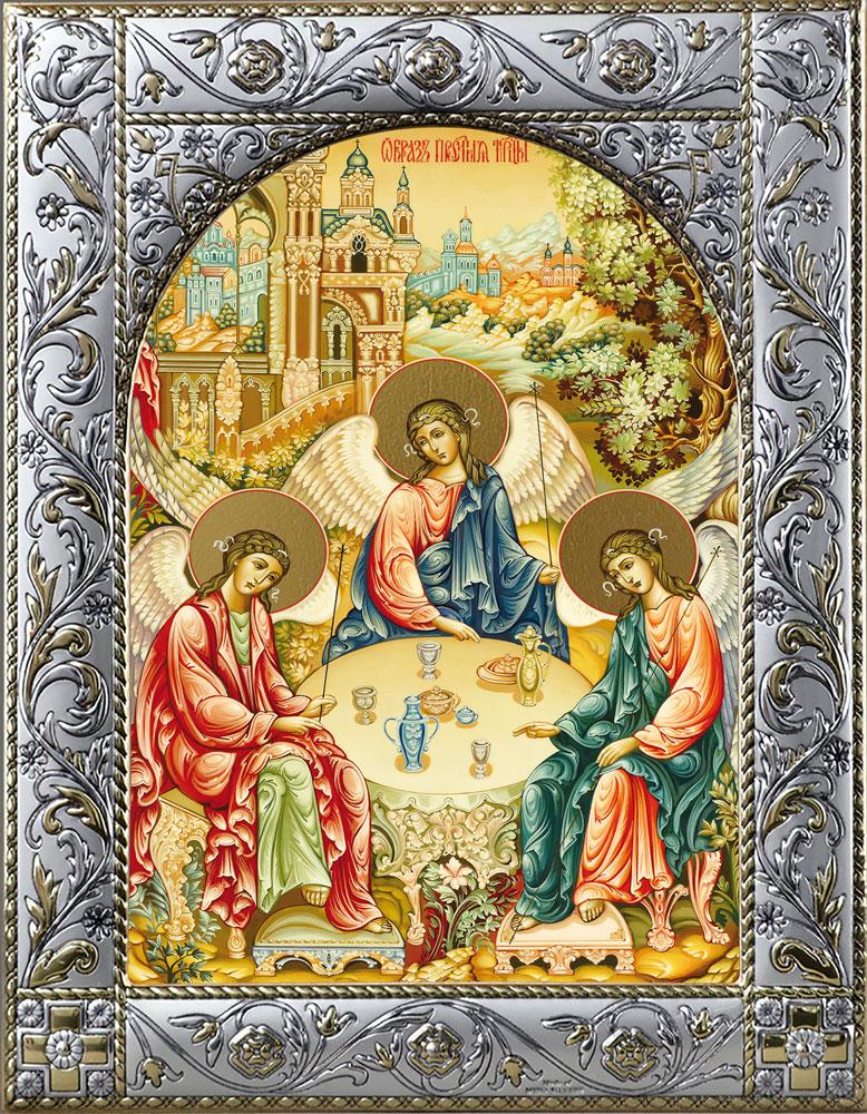 Иконы Святой Троицы в окладе