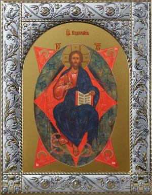 Купить икону Спас в Силах в окладе