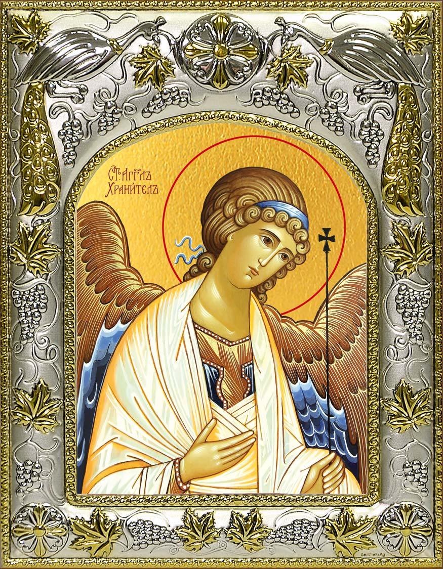 Икона Ангел Хранитель в окладе