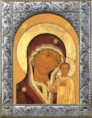 Икона Богородицы Казанская в рамке