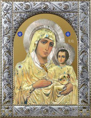Иерусалимская икона Божией Матери в окладе