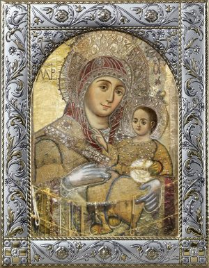 Вифлеемская икона Божией Матери в окладе