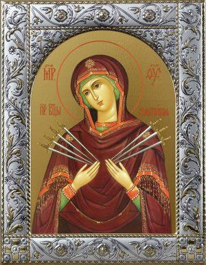 Купить Семистрельную икону Божьей Матери. Семистрельная икона Божьей матери