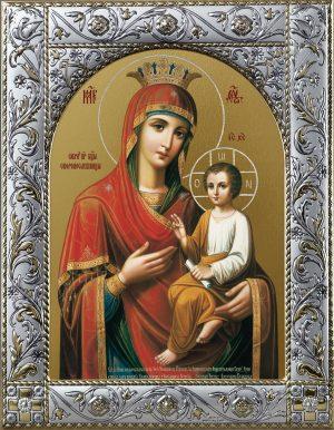 Скоропослушница икона Божией Матери в окладе