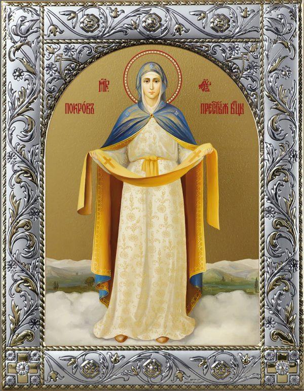 Икона Покров Пресвятой Богородицы в рамке