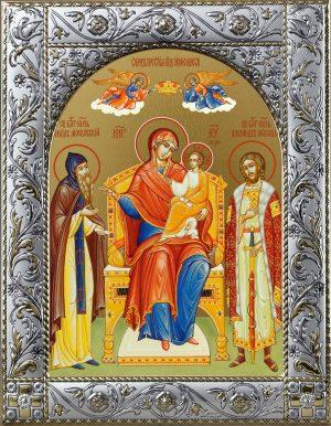 Экономисса икона Божией Матери в окладе
