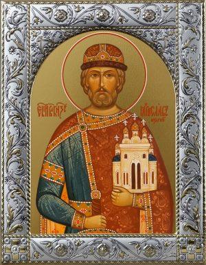 Ярослав I, в крещении Георгий (Юрий), Владимирович, Мудрый, благоверный великий князь Киевский икона в окладе