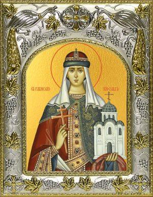 Икона святой Ольги в окладе