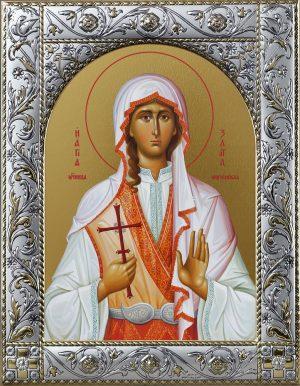 Святая Злата мученица икона в окладе