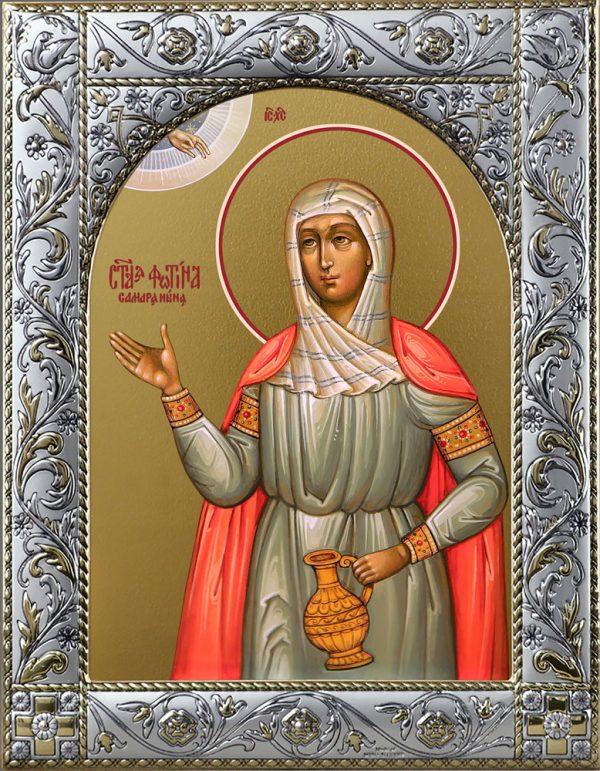 Фотина (Светлана) Самаряныня, Римская, мученица икона в окладе