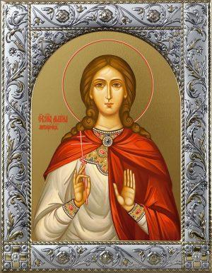 Марина (Маргарита) Антиохийская, великомученица икона в окладе
