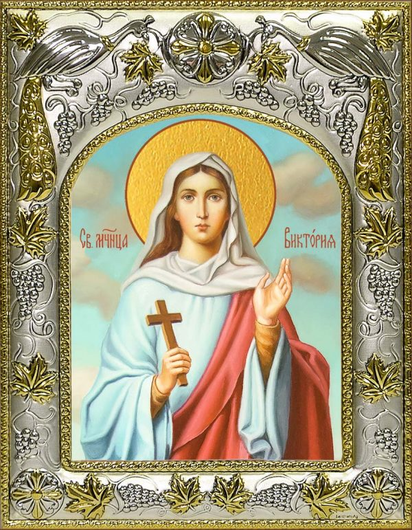 Икона святой Виктории Солунской в окладе