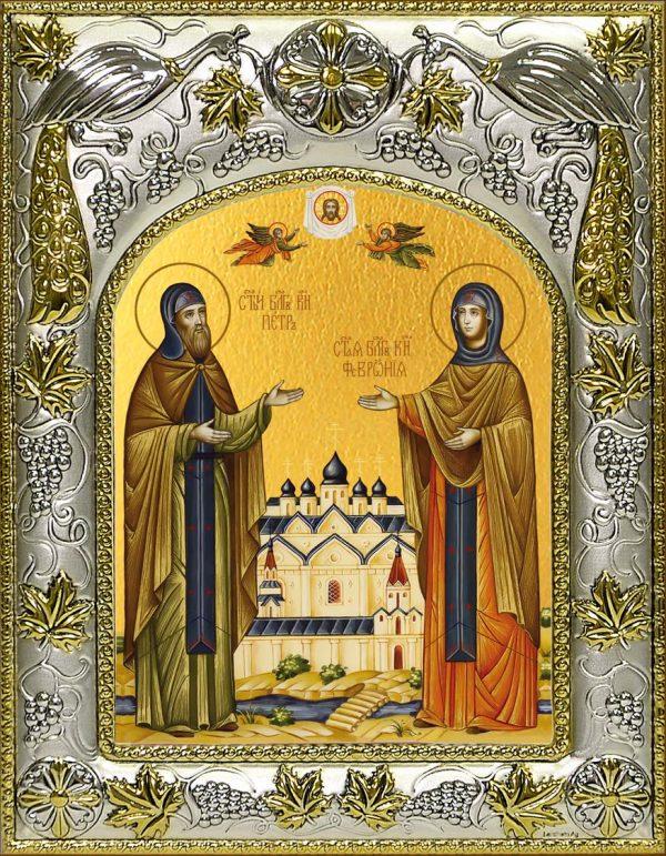Икона Петр и Феврония князья Муромские