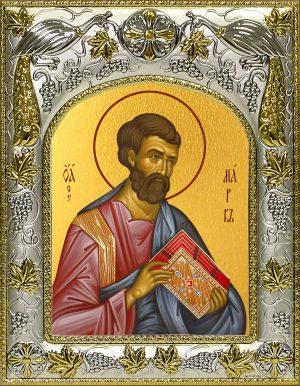 Икона апостола и евангелиста Марка в окладе