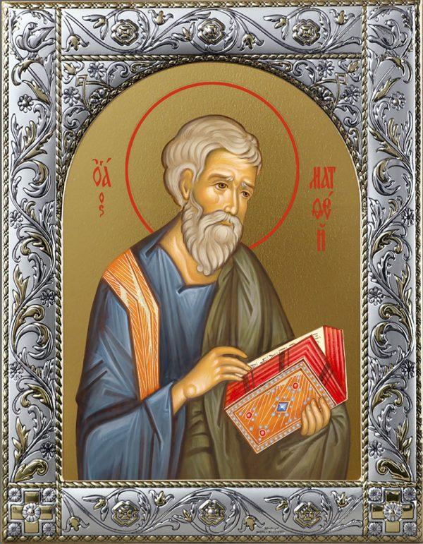 Икона Матфей апостол в рамке
