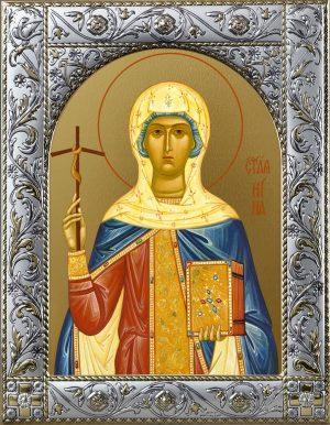 Нина, просветительница Грузии, равноапостольная икона в окладе