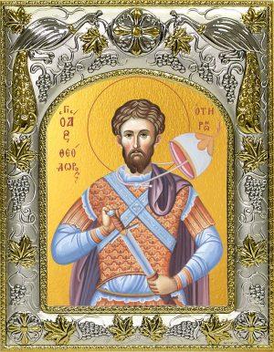 Икона святого Феодора (Фёдора) Тирона в окладе