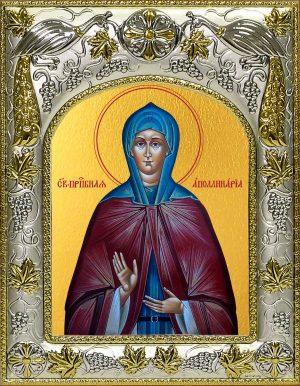 Икона святой Аполлинарии преподобной в окладе