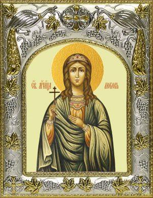 Икона Любовь мученица в окладе