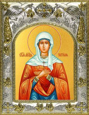 Икона святой Татьяны мученицы в окладе