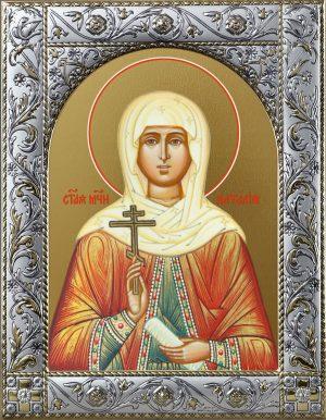 Наталия Никомидийская мученица икона в окладе