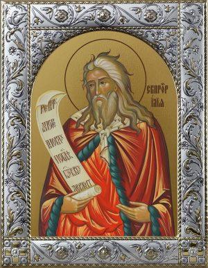Илья Илия пророк, икона в окладе