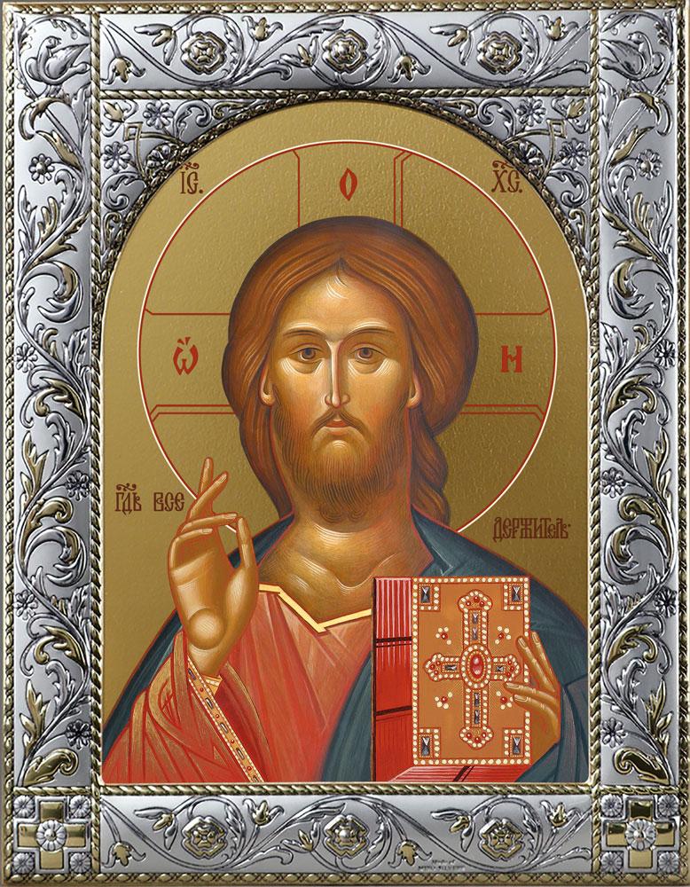 Икона Господь Вседержитель в окладе