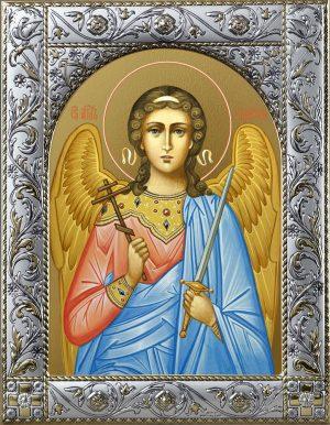 Икона Ангела Хранителя с окладом в подарочной коробке