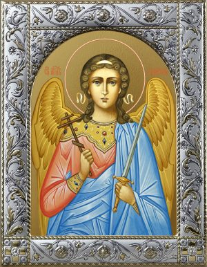 Купить икону Ангела Хранителя с окладом в подарочной коробке