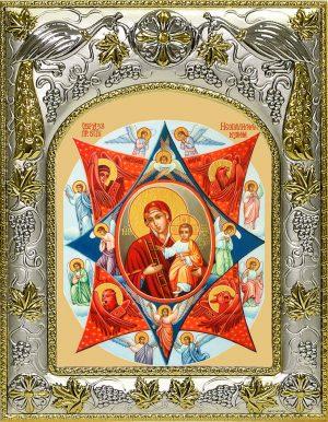 Икона Божьей Матери Неопалимая купина в окладе