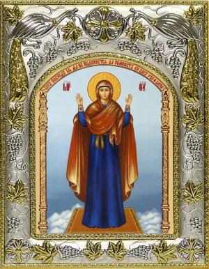 Икона Божьей Матери Нерушимая стена в окладе