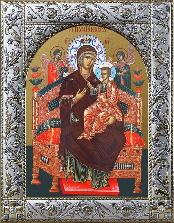 Всецарица икона Божией Матери в окладе