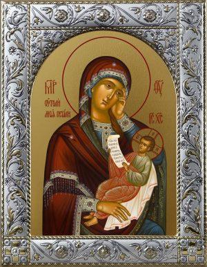 Утоли моя печали икона Божией Матери в окладе