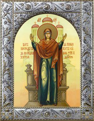Нерушимая Стена икона Божией Матери в окладе